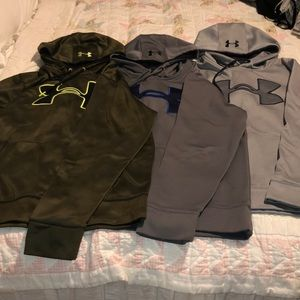 Three under armor hoodies. $30 for all 3